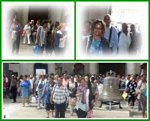 L'entrée dans la basilique